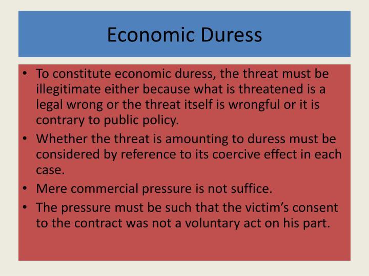 Economic Duress