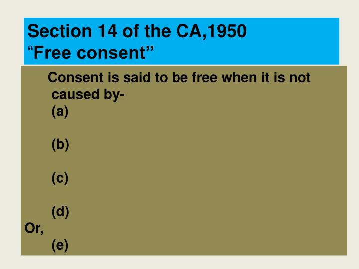 Section 14 of the CA,1950
