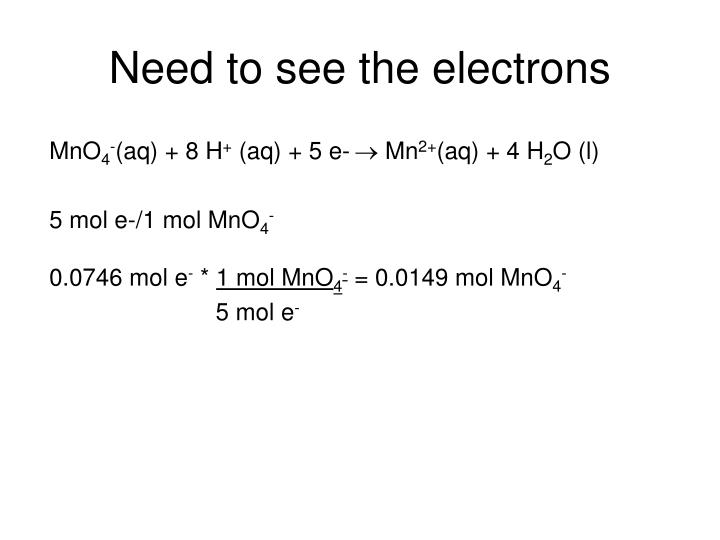 Need to see the electrons