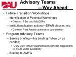 advisory teams way ahead