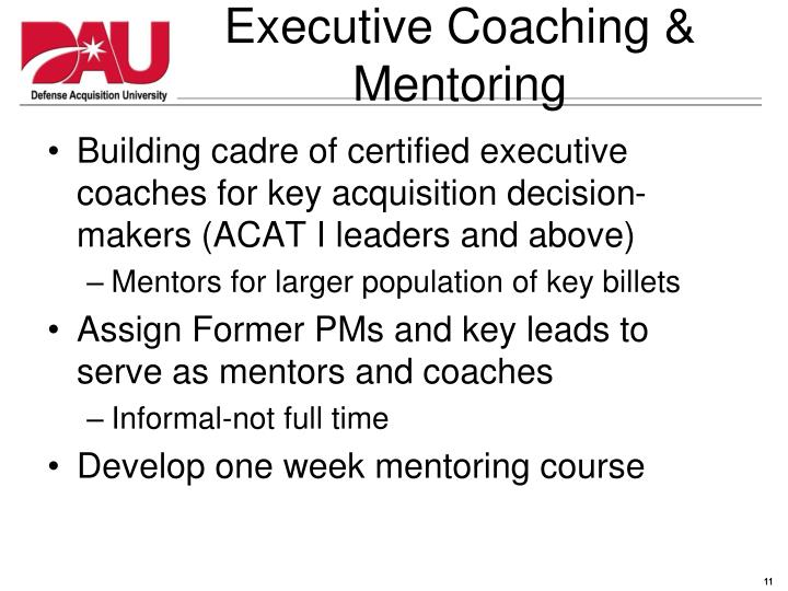Executive Coaching & Mentoring