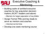 executive coaching mentoring
