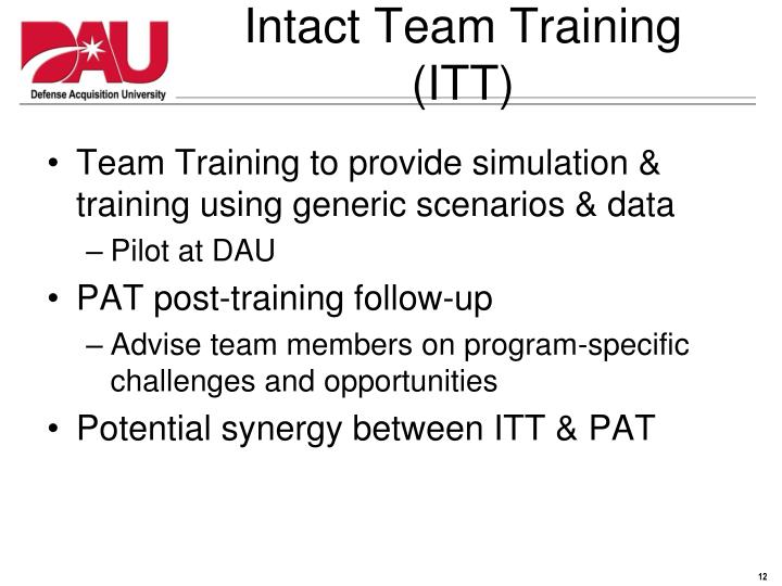 Intact Team Training (ITT)