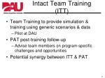 intact team training itt