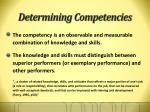 determining competencies