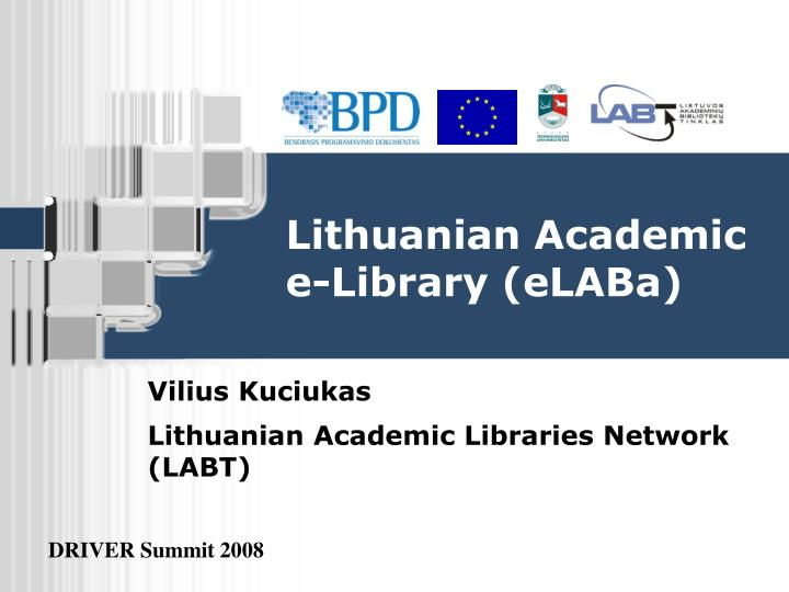 Lithuanian academic e library elaba