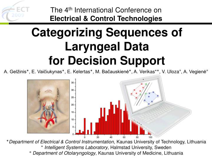 categorizing sequences of laryngeal data for decision support