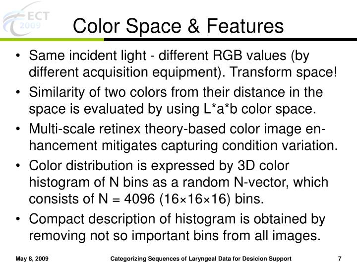 Color Space & Features