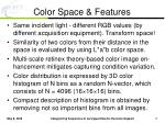 color space features