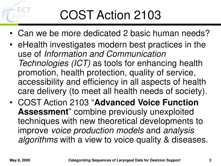COST Action 2103
