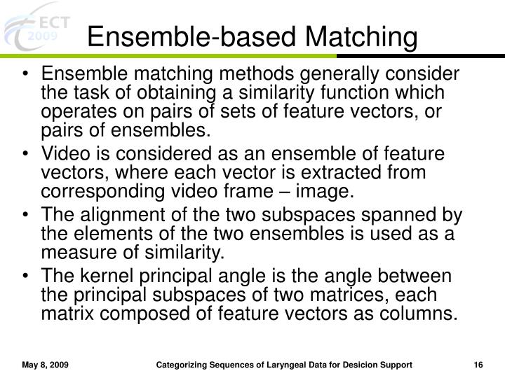 Ensemble-based Matching