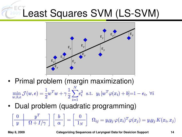 Least Squares SVM (LS-SVM)