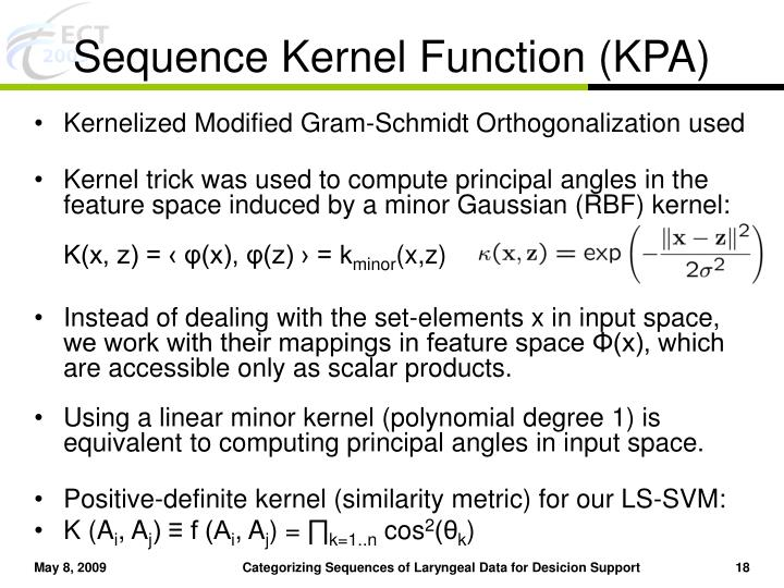 Sequence Kernel Function (KPA)