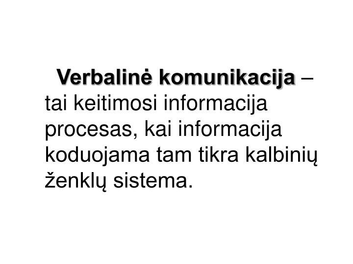 Verbalinė komunikacija