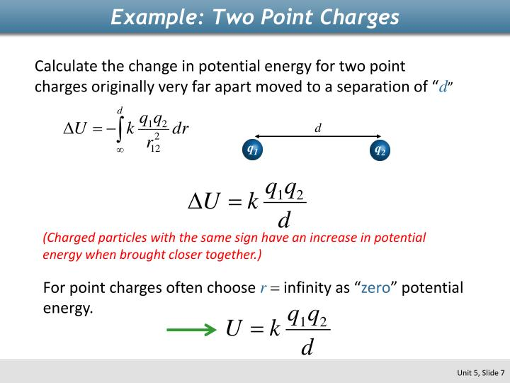Example: Two Point Charges