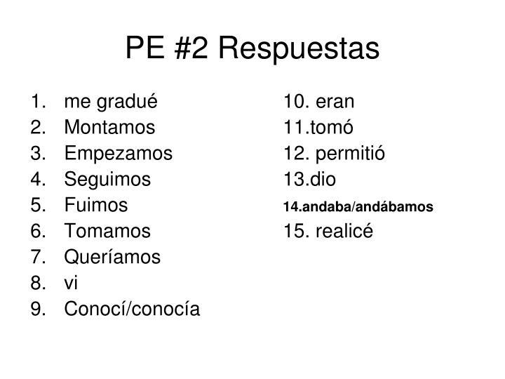 PE #2 Respuestas