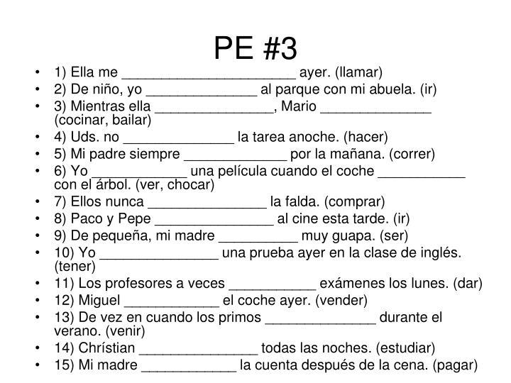 PE #3