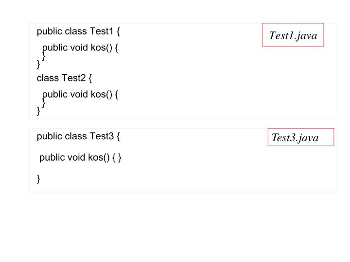 public class Test1 {