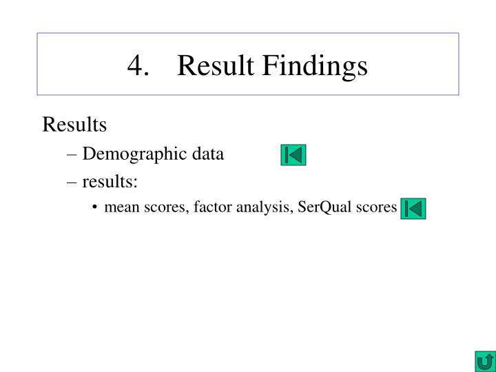 4. Result Findings
