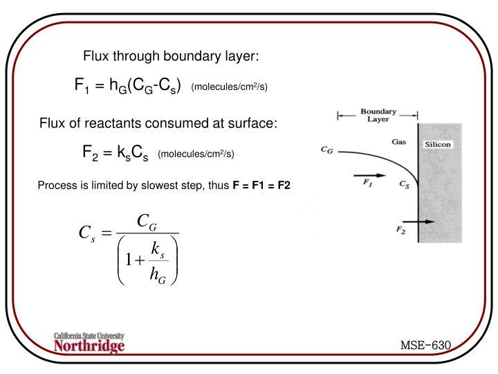 Flux through boundary layer: