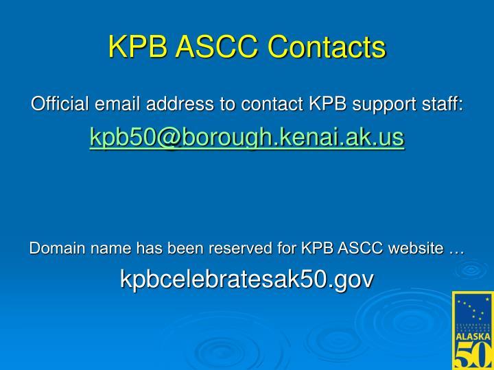 KPB ASCC Contacts