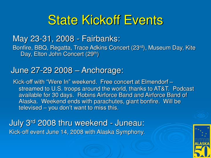 State Kickoff Events