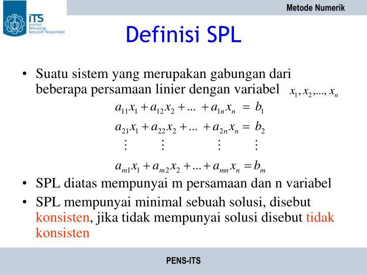 Definisi SPL