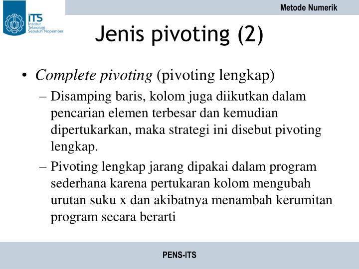Jenis pivoting (2)