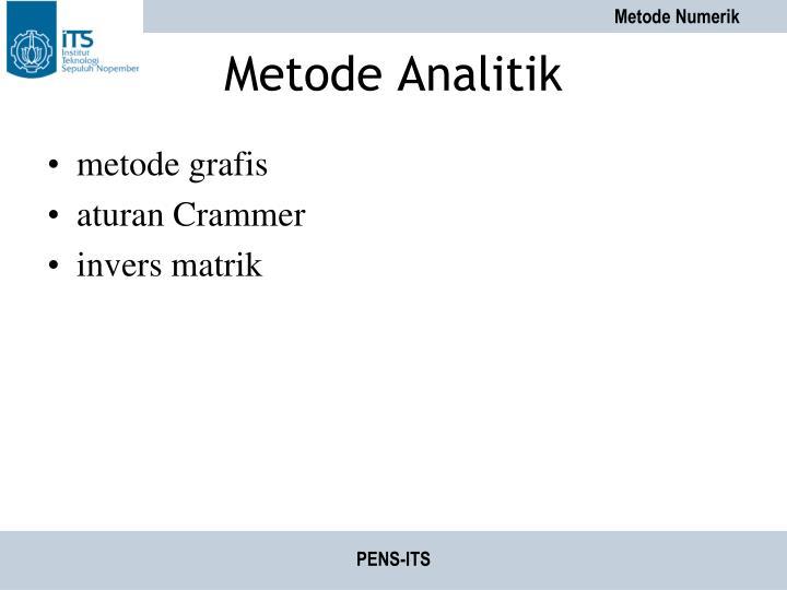 Metode Analitik
