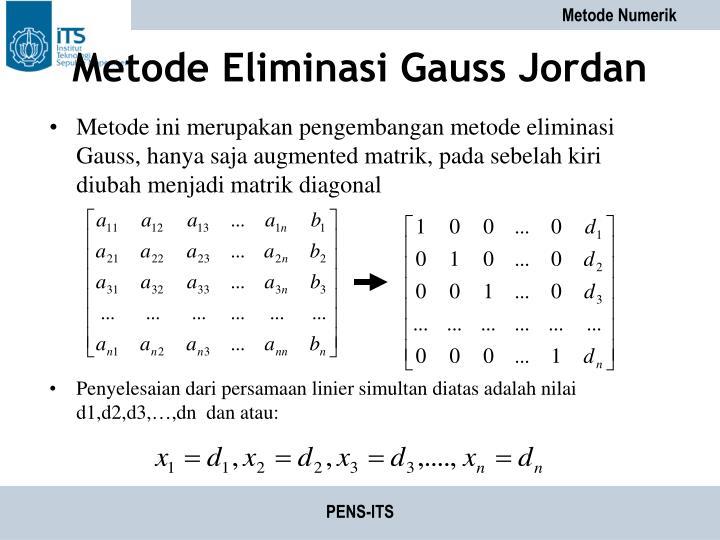 Metode Eliminasi Gauss Jordan