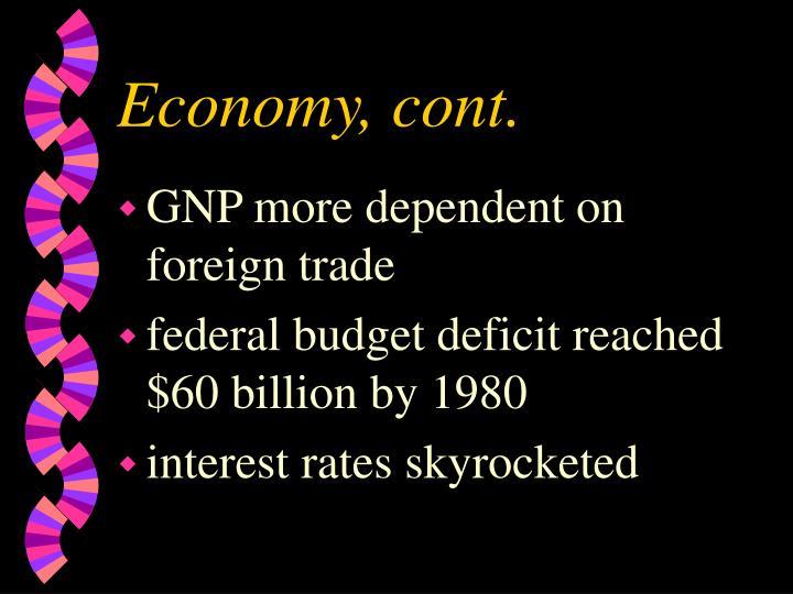 Economy, cont.