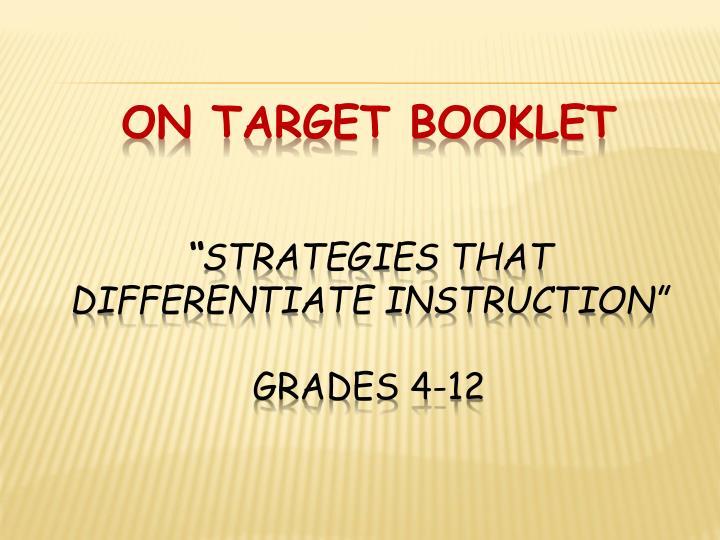 On target booklet