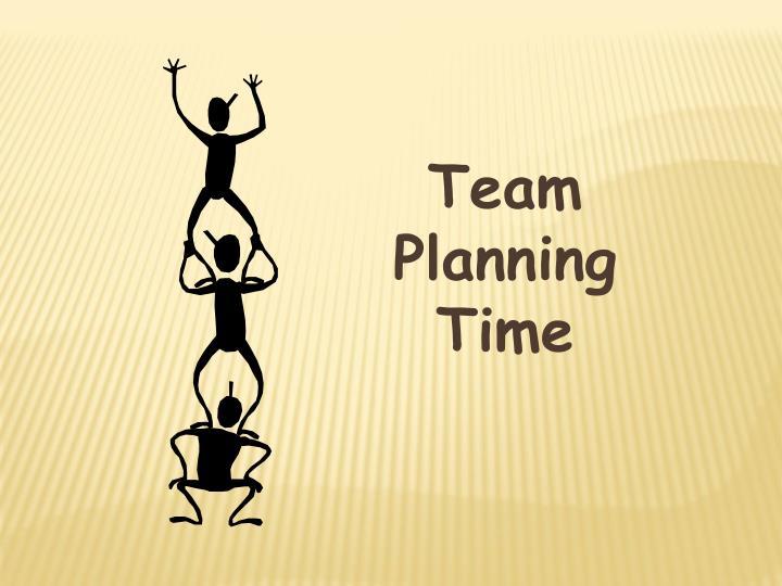 Team Planning