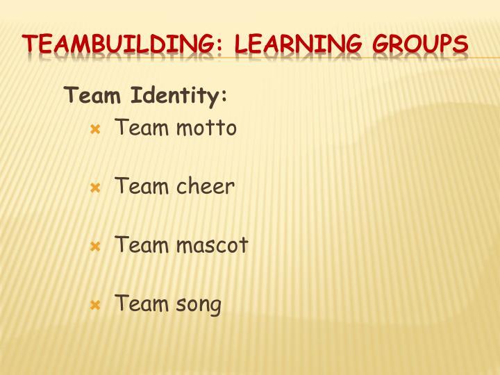 Team Identity: