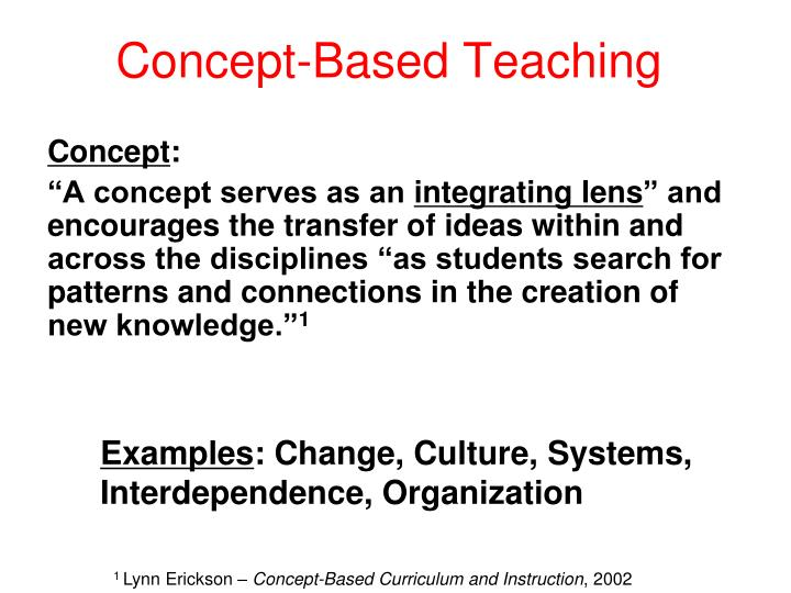 Concept-Based Teaching