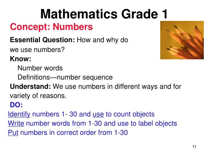 Mathematics Grade 1
