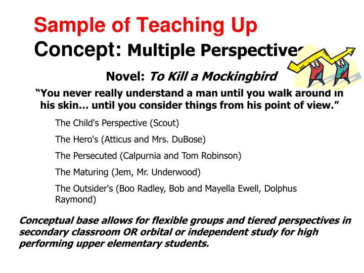 Sample of Teaching Up