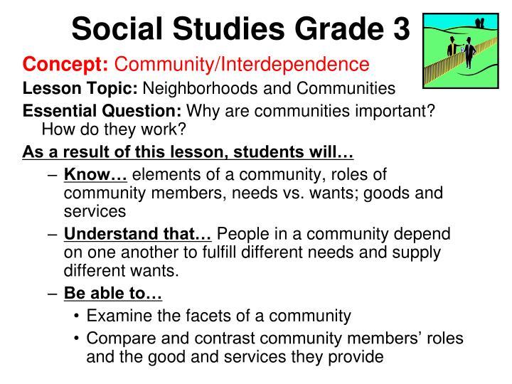 Social Studies Grade 3