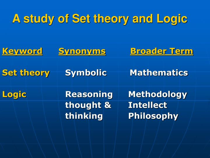 A study of Set theory and Logic