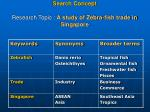 search concept research topic a study of zebra fish trade in singapore