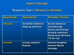 search concept research topic altruism in animals