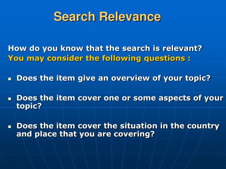 Search Relevance