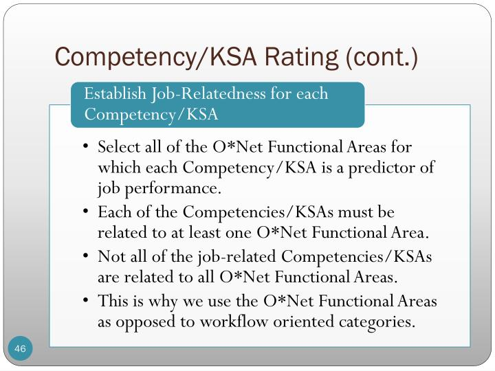 Competency/KSA Rating (cont.)