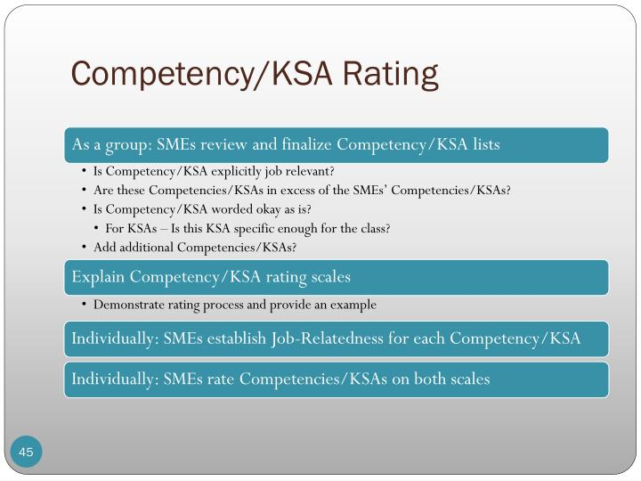 Competency/KSA Rating
