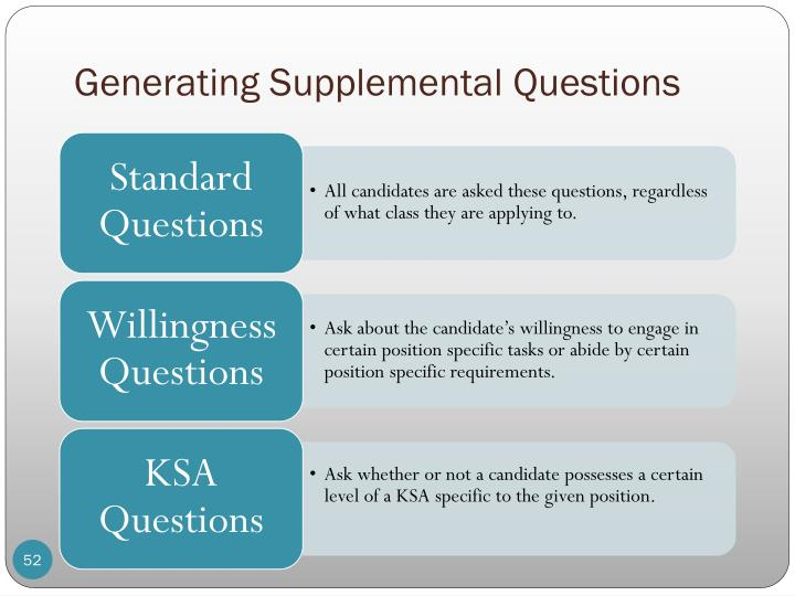 Generating Supplemental Questions
