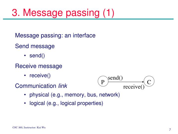3. Message passing (1)