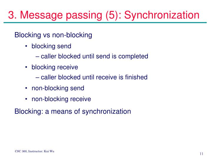 3. Message passing (5): Synchronization
