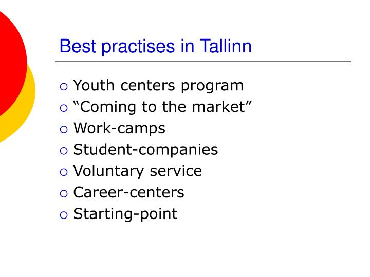 Best practises in Tallinn
