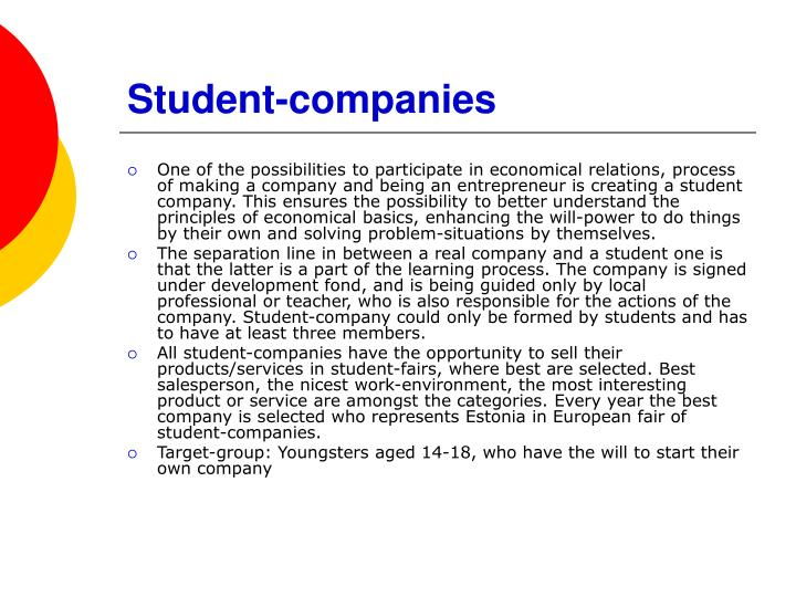 Student-companies