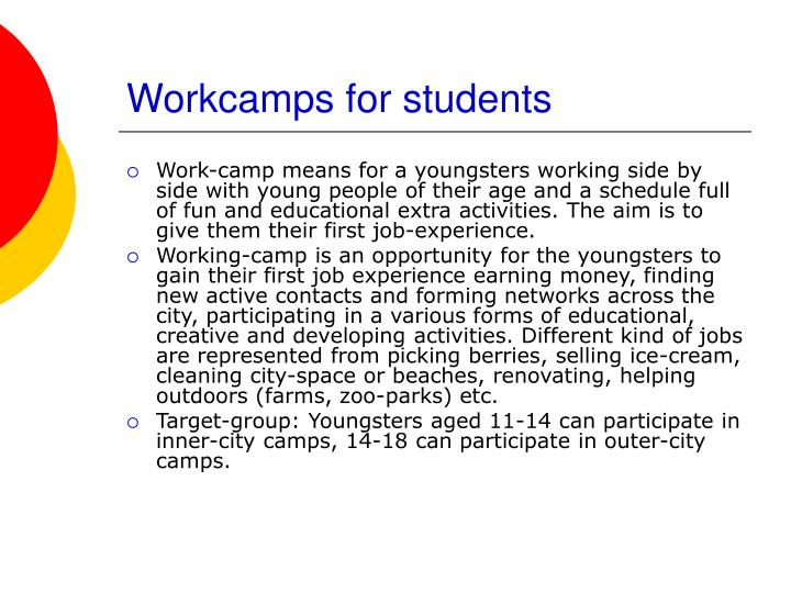 Workcamps for students